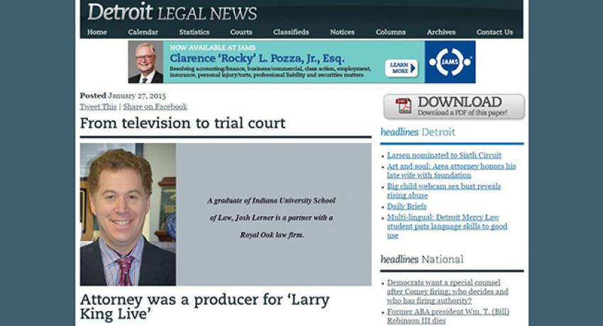 Detroit Legal News screenshot